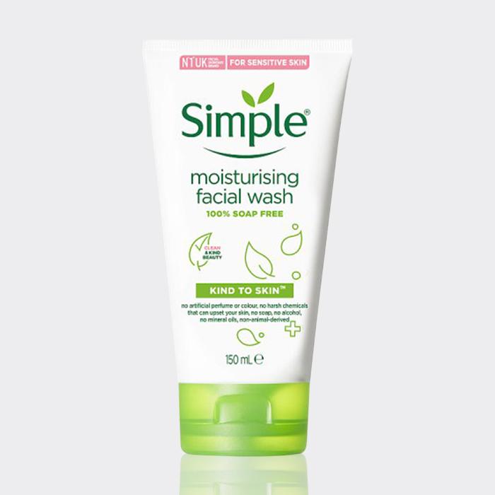 ژل شستشوی پوست خشک و حساس سیمپل ۱۵۰ میل مدل Moisturizing Facial Wash