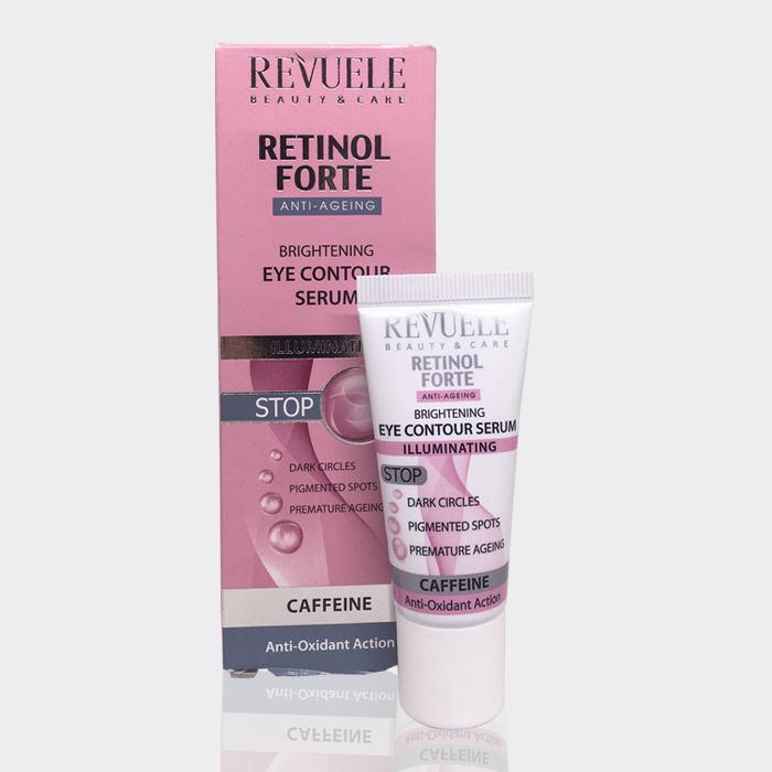 کرم روشن کننده و ضد لک دور چشم رووله ۲۵ میل مدل Retinol forte brightening eye contour serum