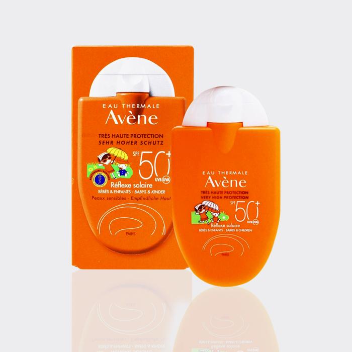 کرم ضد آفتاب کودک اَون SPF50 حجم ۳۰ میل مدل  Avène sun Reflexe children